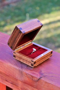 Walnut Ring Box with Custom Engraving by WoodworksAR on Etsy