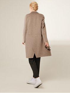 Пальто прямого кроя с ворсом цвет капучино, , артикул 3017742p10087