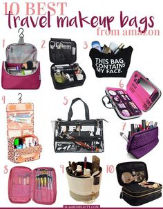 travel packing 10 Best Travel Makeup Bags to Buy o - Bags Travel, Packing Tips For Travel, Travel Makeup Bags, Travel Toiletry Bag, Travel Makeup Essentials, Carry On Bag Essentials, Airplane Essentials, Smart Packing, Cruise Packing