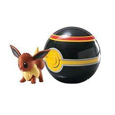 Pokemon - Pokeball für unterwegs T18870 / T18532 Pokemonfigur Evoli im Luxusball
