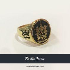 Gold custom family crest jewelry
