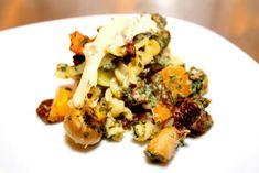 Snabblagad pastagratäng med köttfärs Potato Salad, Cauliflower, Zucchini, Broccoli, Potatoes, Vegetarian, Pasta, Meat, Chicken