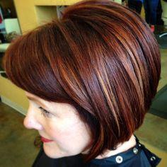 red hair, dimension, balayage, short hair, bob, Blo Raleigh, NC, Hair by Lindzy, #justblo #snapsnip #styleyourstory #redken #modernsalon