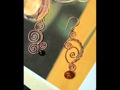 Wire Wrapped Earrings Tutorial... No instructions, just a series of pictures that can be figured out with time. Want to make these!