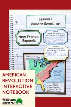 American Revolution Interactive Notebook - Let your or grade classroom or home school students use these printables, scaffolded notes, and interactive notebooks to learn about the Revolutionary War time period. You get maps, graphic organize 4th Grade Social Studies, Social Studies Classroom, 5th Grade Science, Social Studies Resources, Teaching Social Studies, Teaching History, History Teachers, 8th Grade History, Study History