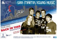 Noche y Día Gran Canaria: Música - 19/07: Concierto de 'Back in Time' en San Martín C.C.C.