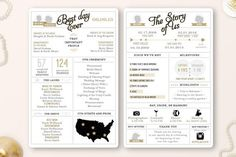 Printable  Infographic wedding program by WisemonkeyPaperie