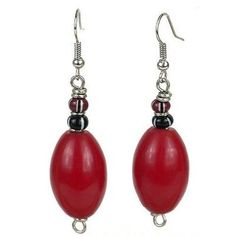Paul makes his jewelry in the Westlands Market where he has a workshop not much bigger than a telephone box. He uses beads from all over Africa to create his jewelry designs. These earrings feature a
