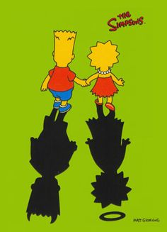 Bart and Lisa Simpson Photo: Devil and Angel Homer Simpson, Simpson Art, Bart And Lisa Simpson, Bart Simpson Tumblr, Simpson Wallpaper Iphone, Cartoon Wallpaper, The Simpsons, Bart E Lisa, Image Nice