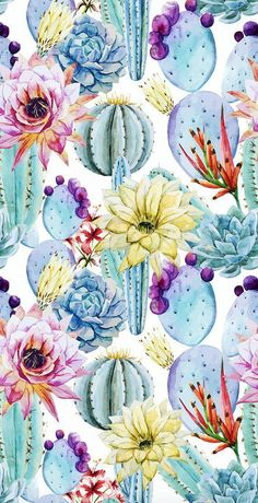 Watercolor Cactus Wallpaper, Removable Wallpaper, Self-adhesive Wallpaper, Floral Wall Décor, Flower Wallcovering - Accent wall? Black Background Wallpaper, Flower Wallpaper, Wallpaper Roll, Adhesive Wallpaper, Funky Wallpaper, Iphone Wallpaper Rustic, Pattern Wallpaper, Cactus Backgrounds, Wallpaper Backgrounds