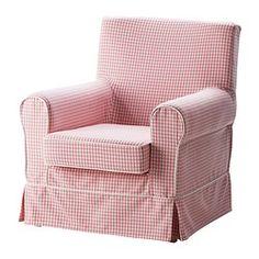 EKTORP JENNYLUND Fauteuil - Sågmyra roze/ruit - IKEA