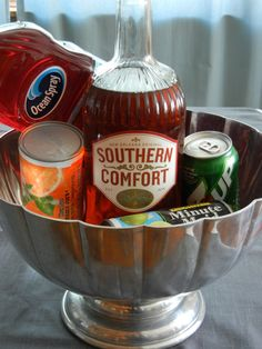 """During the holiday season I like to drink Southern Comfort Punch. It is actually called """"Holiday Punch"""" in the Southern Comfort pamphlet Christmas Drinks, Holiday Drinks, Party Drinks, Cocktail Drinks, Fun Drinks, Yummy Drinks, Holiday Recipes, Alcoholic Drinks, Cocktail Recipes"""