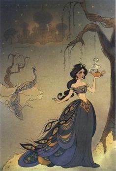"""The art of the Disney Princess"" art nouveau Jasmin..."