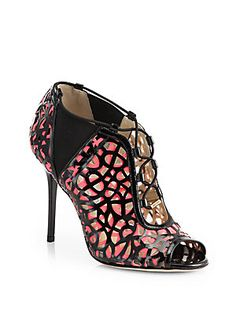 Jimmy Choo Peep-Toe Ankle Boots, To Die For! OMG! These are sexy shoes