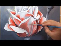 ▶ How to Paint a Rose in Oils, using the Flemish Technique - YouTube