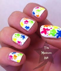 Must Have Nail Trends Animal Nail Designs, Cool Nail Designs, Neon Nail Art, Neon Nails, Splatter Nails, Haircuts For Medium Hair, How To Style Bangs, Better Than Yours, Heart Nails