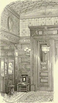 William H Vanderbilt Residence | New York, NY. Door leading into Atrium from the vaulted vestibule. Design by Kreutzuerger.