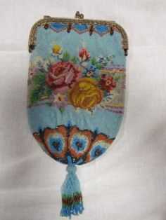 ANTIQUE-MICRO-BEADED-PURSE-DETAILED-NICE-SEE