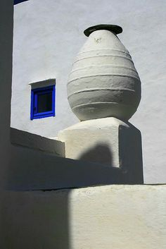 White Amphora with Blue Window by elmec Photographer's Note datail from Castro on Sifnos Island