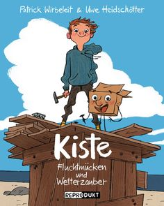 heidschoetter:  Cover by Uwe Heidschötter for his new comic book called KISTE - Fluchtmücken und Wetterzauber. The book will be published in March 2014 by REPRODUKT in Germany.
