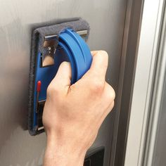 Buff out ugly scratches in your shiny stainless steel appliances, using fine sandpaper and rubbing compound.