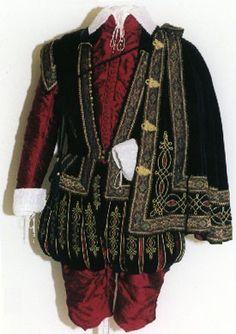 man's elizabethan court costume reproduction