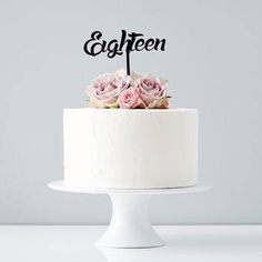 Image result for simple yet beautiful cakes for girls 18th birthday