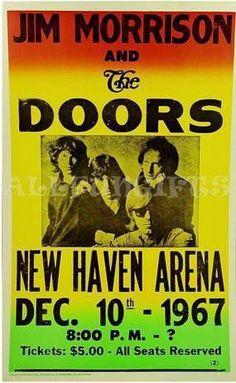 "14""x22"" Jim Morrison & The Doors Concert Poster  $8"