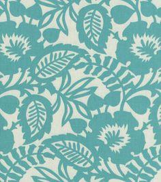 Home Decor Upholstery Fabric-Waverly Esmee / Turquoise aqua