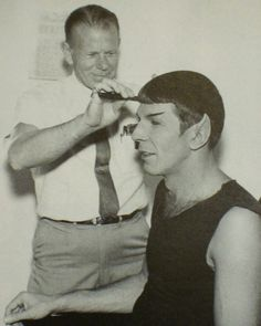 Leonard Nimoy Getting Hair Styled for Spock Role by  Unknown Artist