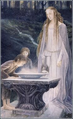 Galadriel's mirror, by Alan Lee.