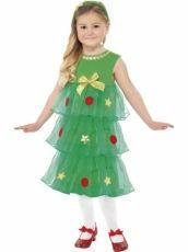 disfraz con tutú de árbol de navidad pequeño