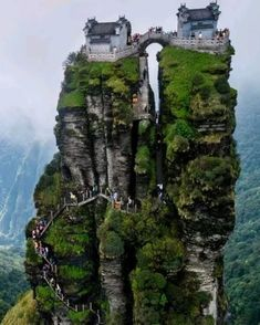 Fanjing Mountain, Guizhou Province, China, - My Dream Life Beautiful Places To Travel, Wonderful Places, Amazing Places On Earth, Romantic Places, Places Around The World, Around The Worlds, Fantasy Landscape, Beautiful Landscapes, Wonders Of The World