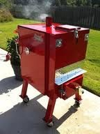 stumps smoker...its the best! i so want this Custom Bbq Smokers, Custom Bbq Pits, Bbq Smoker Trailer, Bbq Pit Smoker, Stumps Smokers, Competition Smokers, Smoking Food, Homemade Smoker, Smoke Grill