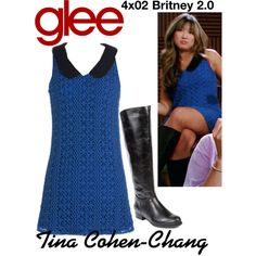Tina Cohen-Chang (Glee) : 4x02 by aure26 on Polyvore featuring polyvore, fashion, style, Me Too, clothing and glee