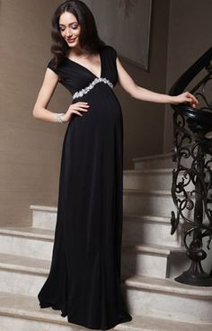 Aurora Maternity Gown Long Black by Tiffany Rose Pregnant Party Dress f055b8797bf