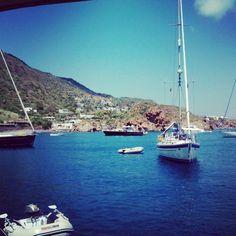 In barca a Lipari (Isole Eolie)