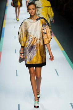 Emeline Ghesquiere at Solar Explosion by Fendi spring/Summer 2013.