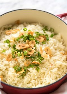 Garlic Butter Rice - Buttery, garlicky rice – an easy side dish to compliment any meal, and so good you can eat it plain!