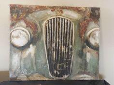 Abandened car Acrylic on canvas- Inez Ribeiro
