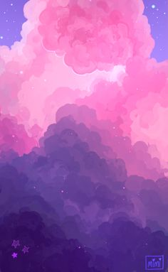 "Purple Aesthetic Discover ""my art""-HIATUS Hi! Cloud Wallpaper, Iphone Background Wallpaper, Scenery Wallpaper, Aesthetic Pastel Wallpaper, Kawaii Wallpaper, Aesthetic Backgrounds, Aesthetic Wallpapers, Purple Aesthetic Background, Purple Galaxy Wallpaper"