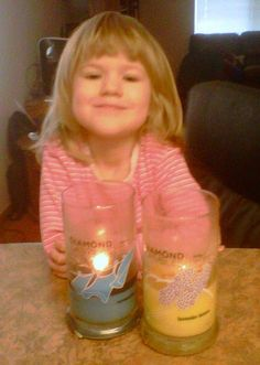 """This is my Eden..she LOVES Diamond Candles!!"" - Sunny Dettling"