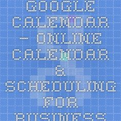 Use Google's business calendars to stay in sync with teammates from any location or device. Shared online calendars suggest meeting times, integrate with email and sync with your desktop. #smbiztips http://www.google.com/enterprise/apps/business/products/calendar/ Google Calendar – Online Calendar & Scheduling for Business