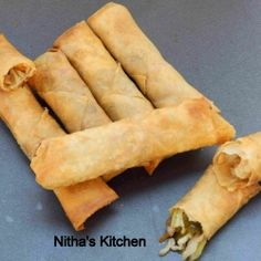 Chinese Spring Rolls by Nithakitchen