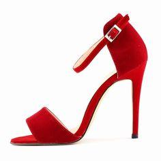 Suede Peep-Toe Sexy High Heels Women's Sandals