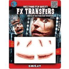 Christien Tinsley Transfer Smiley Fx Halloween Tattoo Costume Makeup TT-FXTM510