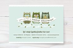 Feathered Nest Baby Shower Invitations by Laura Hankins at minted.com