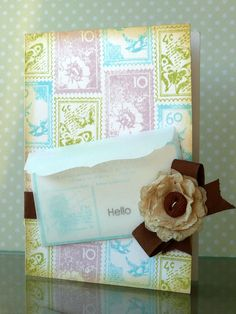 What a beautiful card made with 'stamp' stamps! I am thinking of getting this set, love this!