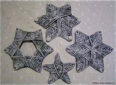 звезды из газетных трубочек (1) (625x463, 167Kb)