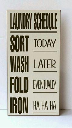 Funny Laundry Sign #DIY #Sign #DSDecor